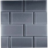 "Dancez Watusi 3"" x 6"" Glass Subway Tile in Black"