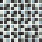 "Color Blends Joven Neblina 1"" x 1"" Matte Glass Mosaic in Multi"