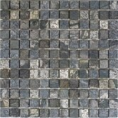 "1"" x 1"" Tumbled Slate Mosaic in Ostrich Grey"