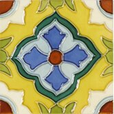 "Mission 6"" x 6"" Hand-Painted Ceramic Decorative Tile in Laguna"