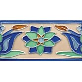 Mission 3&quot; x 6&quot; Hand-Painted Ceramic Decorative Tile in Tulips 3