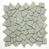Decorative Pebbles 12&quot; x 12&quot; Interlocking Mesh Tile in Green Gobos