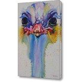 Cousins Series Opal the Ostrich Canvas Art