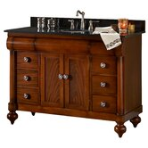 "John Adams 48"" Vanity in Brown Cherry Granite Top"
