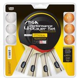 Performance 4 Player Racket Set
