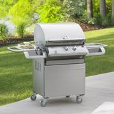 Legacy Cook Number 24&quot; Gas Grill Head with Deluxe Stainless Steel Cabinet