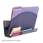 Onyx Magnetic Mesh File Pocket with Accessory Organizer in Black (Set of 6)