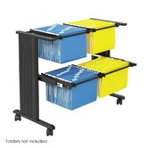 Muv Double Width Filing Cart