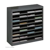 Steel Literature Organizer with 36 Letter-Size Compartments