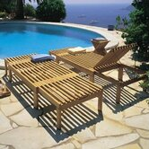 Teak Riviera Deck Chaise Lounge