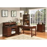 Avenue Two Drawer File Cabinet in Dark Cherry