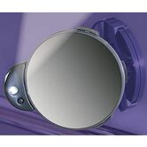 Lighted Spot Mirror with Adjustable Mounting Plate in Black