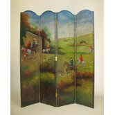 Hunting in the English Country Room Divider