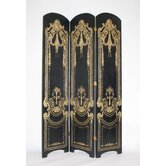 Vintage Theatre Three Panel Room Divider