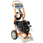 Gas Powered Pressure Washer 2700 psi, 2.3 gpm with four spray nozzles, detergent tank and 25-foot hose
