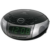 AM / FM Dual Alarm Clock Radio with CD Player