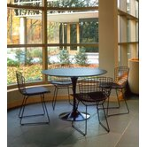 Saarinen 5 Piece Round Dining Table with Bertoia Side Chairs