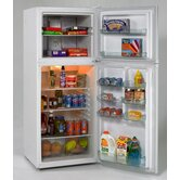 9.9 Cubic Ft. Frost Free Refrigerator/Freezer in White