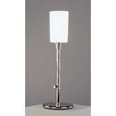 Nina  Torchiere Table Lamp in Polished Nickel