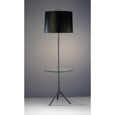 Jonathan Adler Meurice Floor Lamp with Tray in Deep Patina Bronze