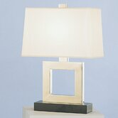 Doughnut  Duncan Table Lamp in Antique Silver Over Brass