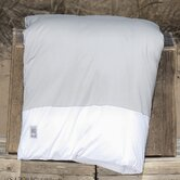 Cotton Jersey Fold Duvet Cover in Fog