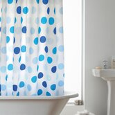 Hookless Shower Curtain in Blue Spots