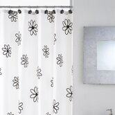 Floral Shower Curtain with Hooks