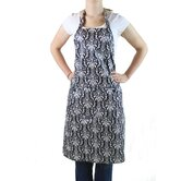 Damask Flip Adult Apron in Black and White
