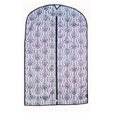 Travel Damask Garment Bag in Black and White