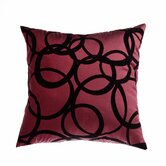 "Mia 18"" Pillow in Merlot Black"