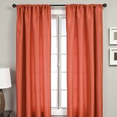 Bella Kids Rod Pocket Panel in Burnt Orange