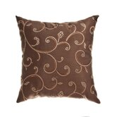 "Rivoli 18"" Pillow in Chocolate"
