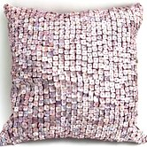 Mother of Pearl Pillow in Purple Plum