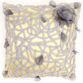 Tangled Flower Pillow in Yellow