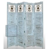 "84"" x 76"" Salisbury Decorative 4 Panel Room Divider"