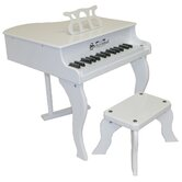 Fancy Baby Grand Piano in White