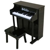 Traditional Spinet Piano in Black