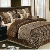 Safari Micro Fur Bed in a Bag Set in Brown