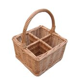 Willow Cutlery and Glass Basket