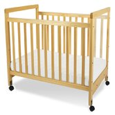 SafetyCraft Compact Size Clearview Crib in Natural