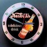 Double Bubble Nesbitt's Glass Clock