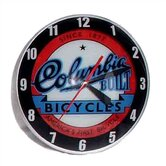 Double Bubble Columbia Bicycle Glass Clock