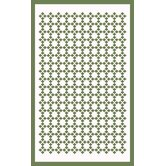 Tip Top Franklin Green/White Rug