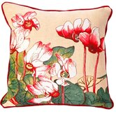 French Tapestry Cotton Cyclamen Pillow