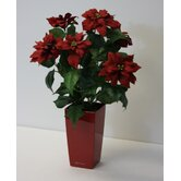 "Artificial 20"" Poinsettia with Planter"