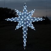 3D Moravian Star in Cool White