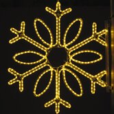 "36"" Pole Decoration Single Loop Snowflake in Warm White"