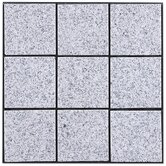 "Interlocking 11-3/4"" x 11-3/4"" Granite Tiles in Bright Gray"