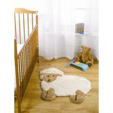 Nursery Little Lamb Natural Novelty Rug